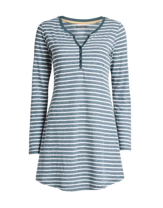 ESSENZA Acacia Stripe Grau Nachthemd S
