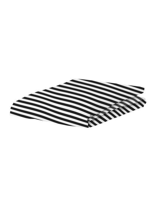 Covers & Co Earned My Stripes Schwarz Spannbettlaken 90 x 200 cm