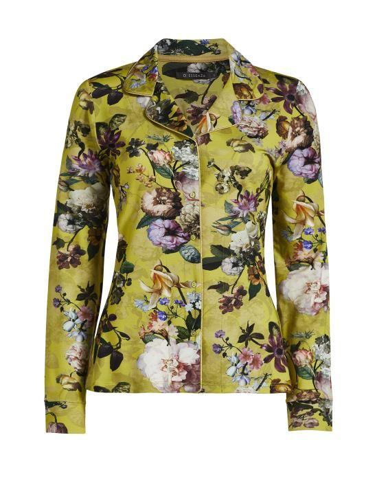 ESSENZA Fenna Fleur Golden Yellow Pyjamatop XS