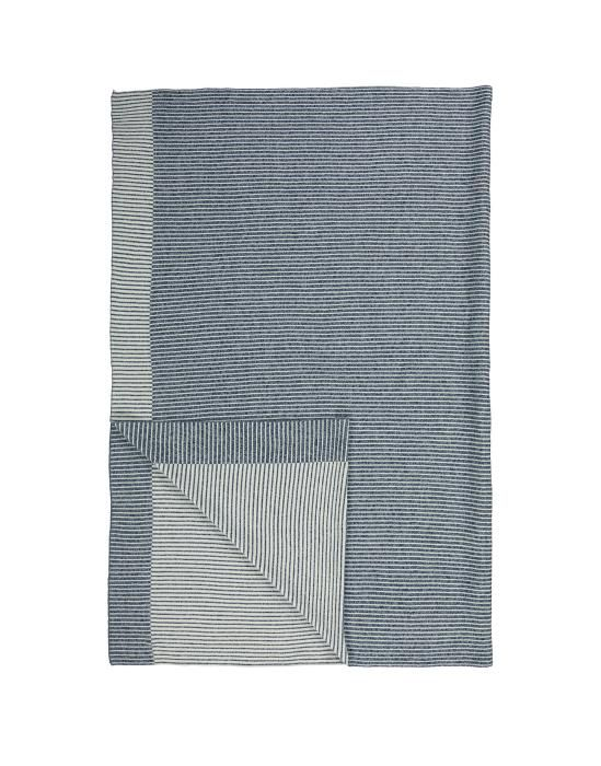 Marc O'Polo Ipala Navy Plaid 130 x 170 cm