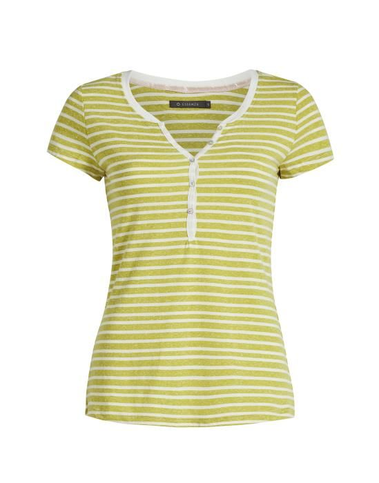 ESSENZA Jimmies Stripe Gelb Top Kurzarm XS