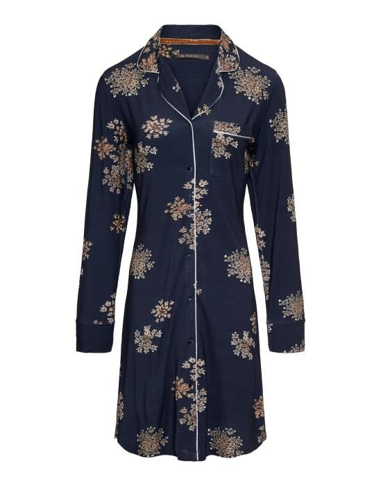 ESSENZA Laka Lauren Indigo Blue Nachthemd XS