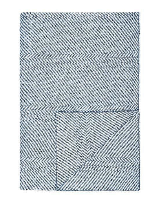Marc O'Polo Rik Blau Plaid 130 x 170 cm