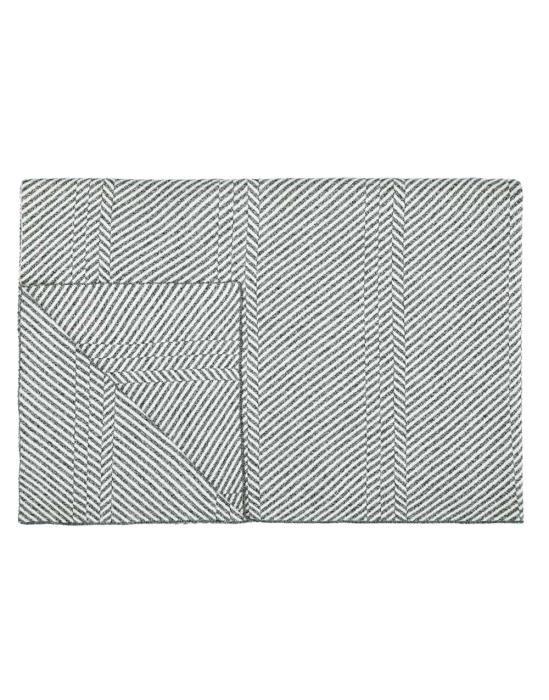 Marc O'Polo Rik Grau Plaid 130 x 170 cm