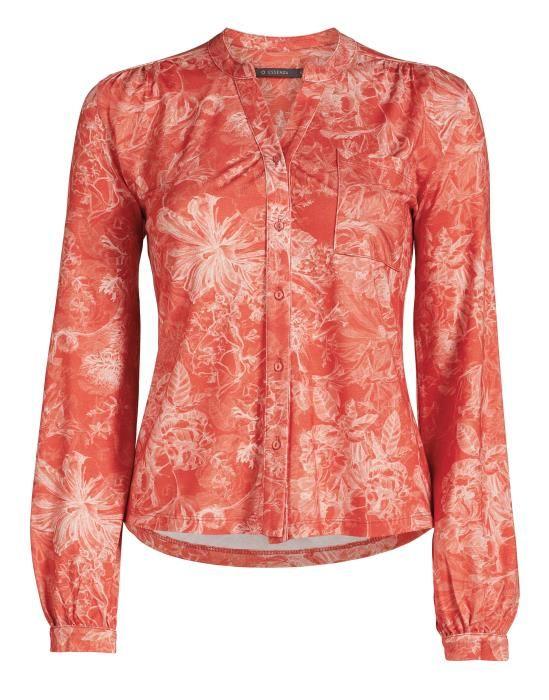 ESSENZA Sannah Vivienne Orange Pyjamatop XS