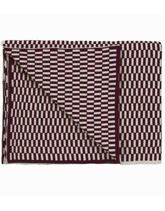 Marc O'Polo Yara Plum Plaid 130 x 170 cm