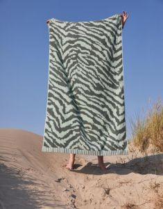 ESSENZA Belen Lorbeergrün Strandhandtuch 100 x 180 cm