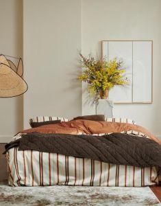ESSENZA Billie Dunkelbraun Tagesdecke 220 x 265 cm