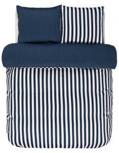 Marc O'Polo Classic Stripe Indigo Blue Bettwäsche 200 x 200 cm