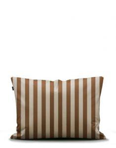 Marc O'Polo Classic Stripe Toffee Brown Kissenbezug 40 x 40 cm