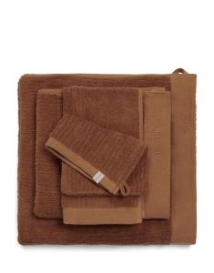 ESSENZA Connect Organic Lines Leather Brown Gästetuch 30 x 50 cm