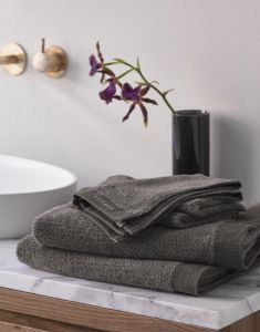 ESSENZA Connect Organic Lines Handtuch Set Grau