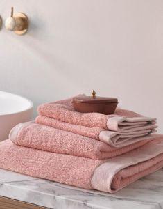 ESSENZA Connect Organic Lines Handtuch Set Rosa