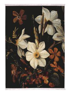 ESSENZA Daffodils Reunited Schwarz Teppich 120 x 180 cm