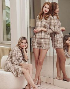 ESSENZA Delphine Beau Mandel Pyjamaoberteil 3/4 Ärmel XL