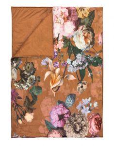 ESSENZA Fleur Leather Brown Tagesdecke 240 x 100 cm