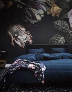 ESSENZA Fleur Nightblue Tagesdecke 220 x 265 cm