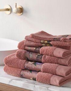 ESSENZA Fleur Dusty Rose Handtuch 70 x 140 cm