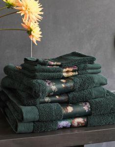 ESSENZA Fleur Handtuch Set Dunkelgrün