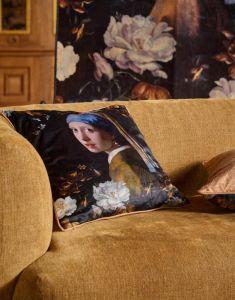 ESSENZA Floral Girl Schwarz Dekokissen 50 x 50 cm