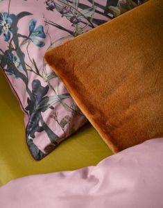 ESSENZA Furry Leather Brown Dekokissen 50 x 50 cm