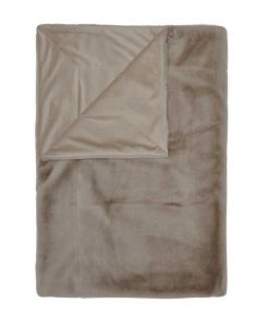 ESSENZA Furry Taupe Plaid 150 x 200 cm