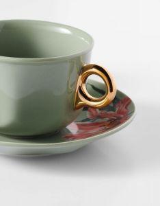 ESSENZA Gallery Stone green Kaffeetasse & Untertasse 22 cl