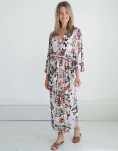 ESSENZA Ilona Fleur Grau Kimono M