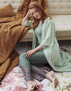 ESSENZA Ilona Uni Sage Green Kimono XL