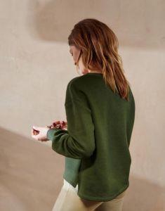 ESSENZA Jodie Uni Dunkelgrün Sweater M