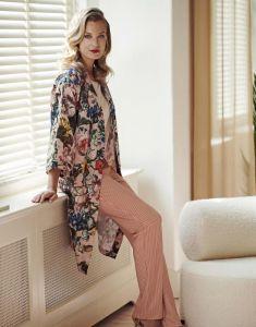 ESSENZA Lindsey Striped Ginger Lange Hose M