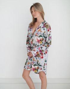 ESSENZA Lindy Fleur Grau Nachthemd M