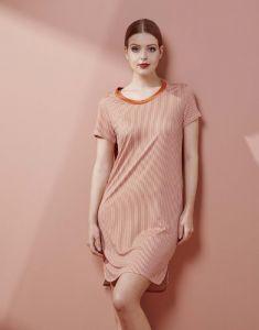 ESSENZA Loreen Striped Ginger Nachthemd M