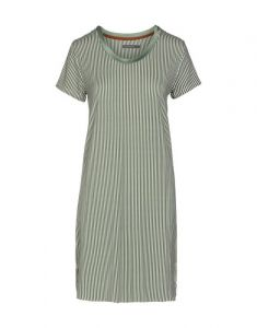 ESSENZA Loreen Striped Lorbeergrün Nachthemd XL