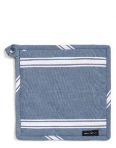 Marc O'Polo Lovon Smoke Blue Topflappen 22 x 22 cm