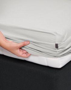 ESSENZA Mako Jersey Silver Spannbettlaken 140-160 x 200-220 cm