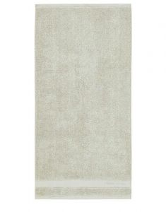 Marc O'Polo Melange Grün / Off White Gästetuch 30 x 50 cm
