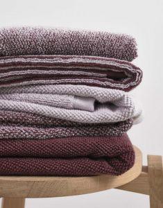 Marc O'Polo Melange Aubergine / Lavender Mist Waschhandschuhe 16 x 22 cm