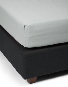 ESSENZA Minte Grau Spannbettlaken 200 x 200 cm