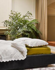ESSENZA Minte Olive Spannbettlaken 180 x 200 cm