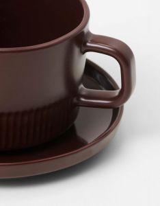 Marc O'Polo Moments Earth Brown Kaffeetasse & Untertasse 20 cl