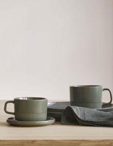 Marc O'Polo Moments Olive Green Kaffeetasse & Untertasse 20 cl