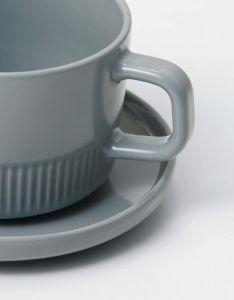 Marc O'Polo Moments Soft Grey Kaffeetasse & Untertasse 20 cl