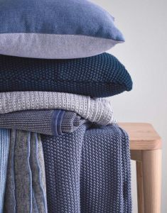 Marc O'Polo Nordic knit Indigo Blue Dekokissen 50 x 50 cm