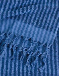Marc O'Polo Nurmes Blau Strandhandtuch 100 x 180 cm