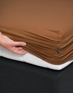 ESSENZA Premium Jersey Leather Brown Spannbettlaken 140-160 x 200-220 cm