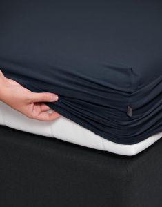 ESSENZA Premium Jersey Nightblue Spannbettlaken 180-200 x 200-220 cm