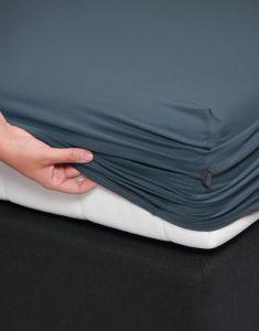 ESSENZA Premium Jersey Stone Blue Spannbettlaken 180-200 x 200-220 cm