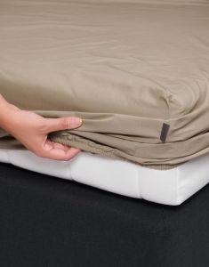 ESSENZA Premium Percale Clay Spannbettlaken 90 x 200 cm