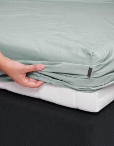 ESSENZA Premium Percale Dusty Green Spannbettlaken 180 x 210 cm